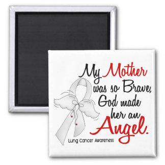 Cáncer de pulmón de la madre del ángel 2 imán cuadrado
