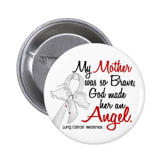 Cáncer de pulmón de la madre del ángel 2 pin redondo de 2 pulgadas