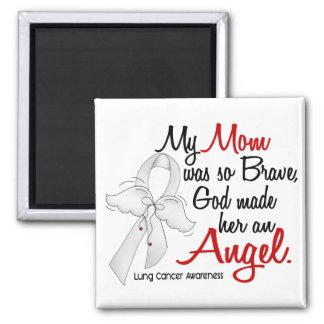 Cáncer de pulmón de la mamá del ángel 2 imán cuadrado