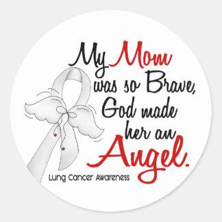 Cáncer de pulmón de la mamá del ángel 2 pegatina