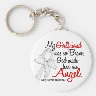 Cáncer de pulmón de la novia del ángel 2 llavero redondo tipo pin
