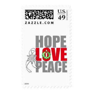 Cáncer de pulmón de la paz del amor de la envio