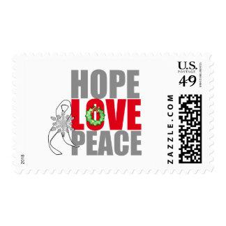 Cáncer de pulmón de la paz del amor de la franqueo