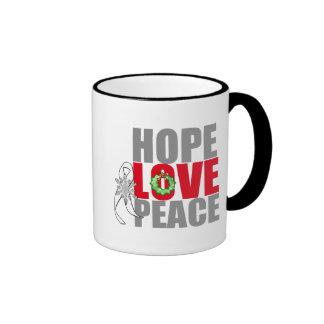 Cáncer de pulmón de la paz del amor de la taza a dos colores