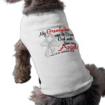 Cáncer de pulmón del abuelo del ángel 2 camisa de mascota