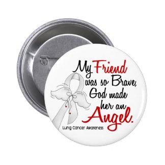 Cáncer de pulmón del amigo del ángel 2 pin redondo de 2 pulgadas