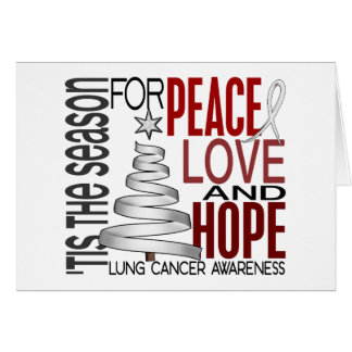 Cáncer de pulmón del día de fiesta del navidad de  tarjeta de felicitación