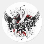 Cáncer de pulmón del guerrero 16 etiqueta redonda