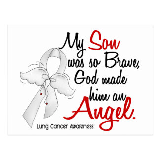 Cáncer de pulmón del hijo del ángel 2 tarjetas postales