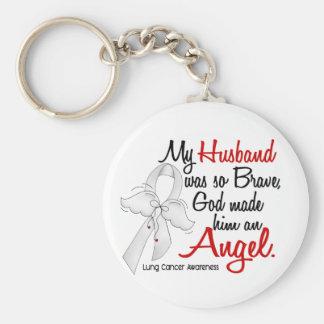 Cáncer de pulmón del marido del ángel 2 llaveros