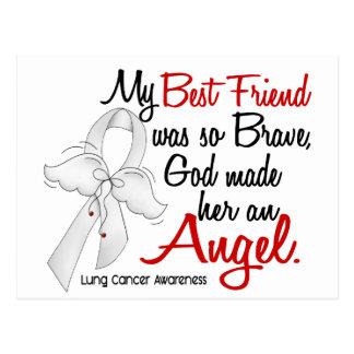 Cáncer de pulmón del mejor amigo del ángel 2 tarjeta postal
