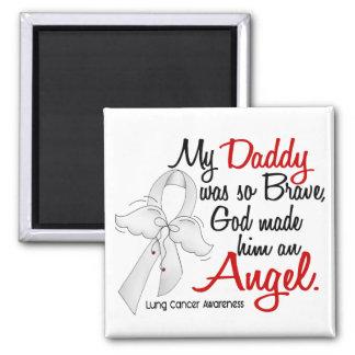 Cáncer de pulmón del papá del ángel 2 imán cuadrado