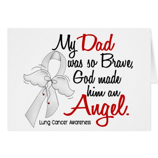 Cáncer de pulmón del papá del ángel 2 felicitaciones