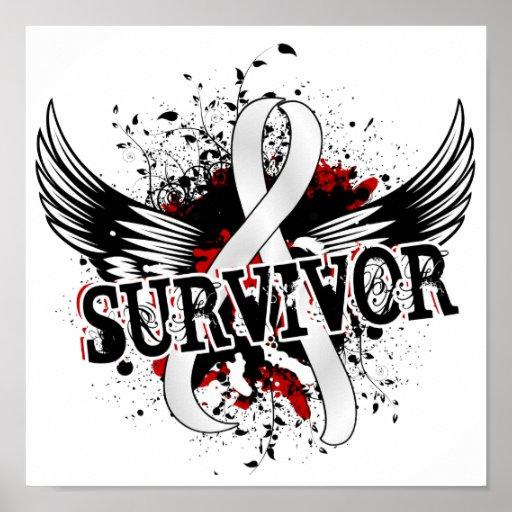 Cáncer de pulmón del superviviente 16 impresiones