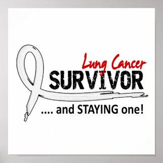 Cáncer de pulmón del superviviente 8 poster