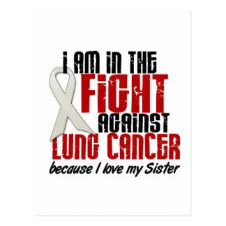 Cáncer de pulmón EN la hermana de la LUCHA 1 Tarjetas Postales