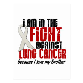 Cáncer de pulmón EN la LUCHA 1 Brother Tarjeta Postal