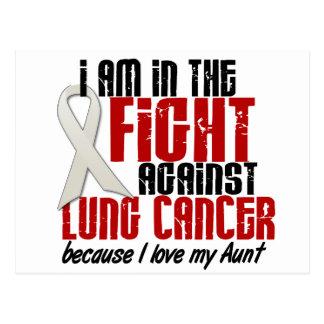 Cáncer de pulmón EN la tía de la LUCHA 1 Tarjeta Postal
