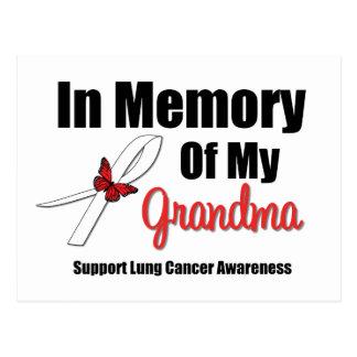 Cáncer de pulmón en memoria de mi abuela tarjetas postales