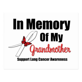 Cáncer de pulmón en memoria de mi abuela postal