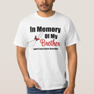 Cáncer de pulmón en memoria de mi Brother Playera