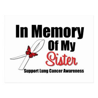 Cáncer de pulmón en memoria de mi hermana tarjetas postales