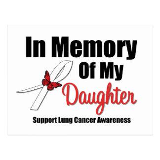 Cáncer de pulmón en memoria de mi hija postal
