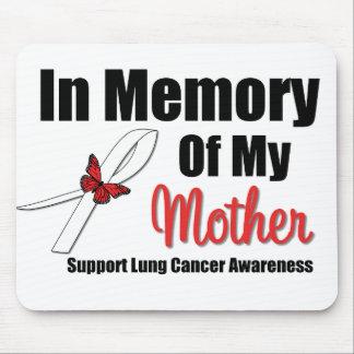 Cáncer de pulmón en memoria de mi madre alfombrilla de raton