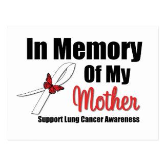 Cáncer de pulmón en memoria de mi madre postales