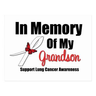 Cáncer de pulmón en memoria de mi nieto tarjeta postal
