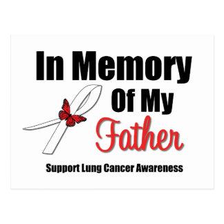 Cáncer de pulmón en memoria de mi padre tarjetas postales
