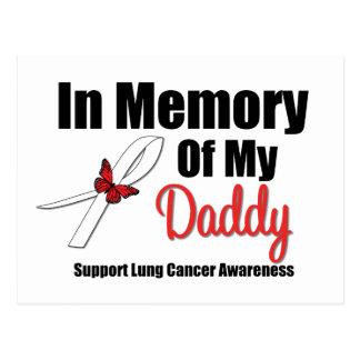 Cáncer de pulmón en memoria de mi papá tarjetas postales