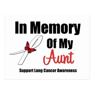Cáncer de pulmón en memoria de mi tía tarjeta postal