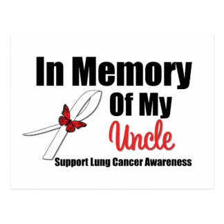 Cáncer de pulmón en memoria de mi tío tarjeta postal