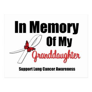 Cáncer de pulmón en nieta de la memoria tarjetas postales