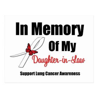Cáncer de pulmón en nuera de la memoria tarjetas postales