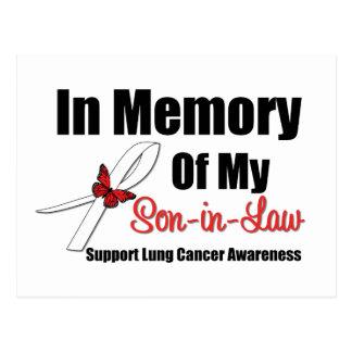 Cáncer de pulmón en yerno de la memoria postales