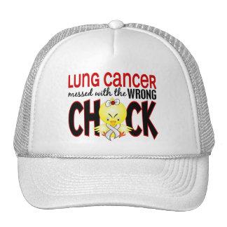 Cáncer de pulmón ensuciado con el polluelo incorre gorros bordados