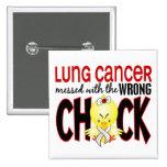 Cáncer de pulmón ensuciado con el polluelo incorre pin