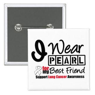 Cáncer de pulmón llevo la cinta de la perla para m pin