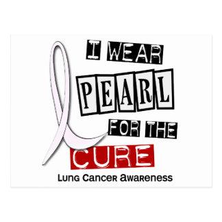 Cáncer de pulmón LLEVO la curación de la PERLA 37 Tarjetas Postales