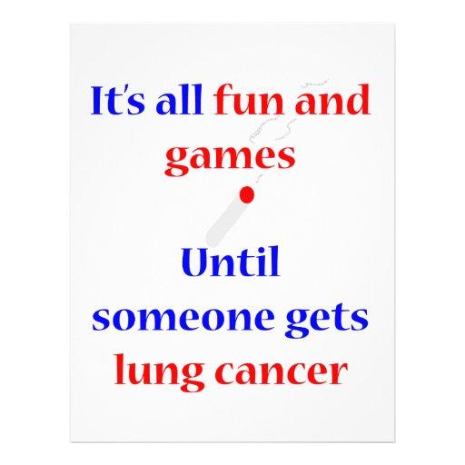 Cáncer de pulmón membrete personalizado