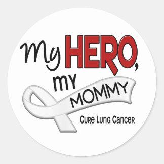 Cáncer de pulmón MI HÉROE MI MAMÁ 42 Etiqueta Redonda
