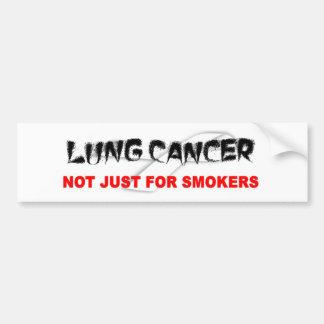 Cáncer de pulmón No apenas para los fumadores Etiqueta De Parachoque