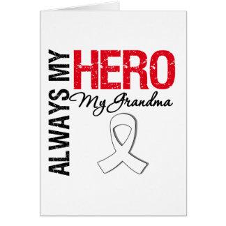 Cáncer de pulmón - siempre mi héroe mi abuela tarjetón