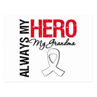 Cáncer de pulmón - siempre mi héroe mi abuela tarjeta postal