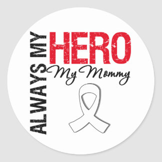 Cáncer de pulmón - siempre mi héroe mi mamá pegatinas