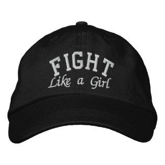 Cáncer de Retinoblastoma - lucha como un chica Gorra Bordada