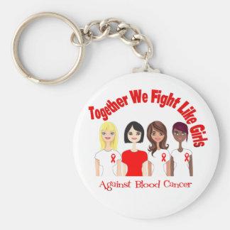 Cáncer de sangre juntos que luchamos como chicas llavero redondo tipo pin