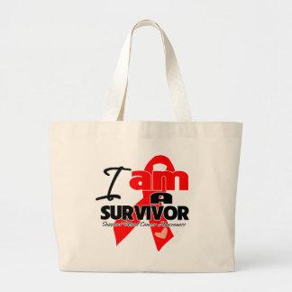 Cáncer de sangre - soy un superviviente bolsa de tela grande